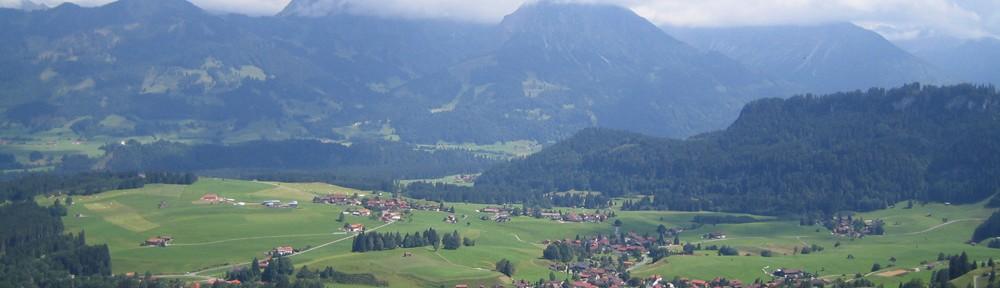 Bergpanorama Allgäu